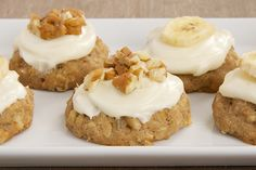The popular cake gets the cookie treatment with Hummingbird Oatmeal Cookies. They're filled with oats, bananas, pineapple, cinnamon, and nuts. @jlmchenry