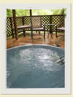 Hot Springs, NC- fabulous hot tubs along the beautiful French Broad River...