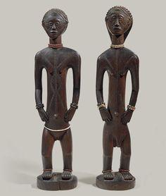 Standing Male and Female Figures [Democratic Republic of Congo; Tabwa] (1978.412.591,2) | Heilbrunn Timeline of Art History | The Metropolitan Museum of Art