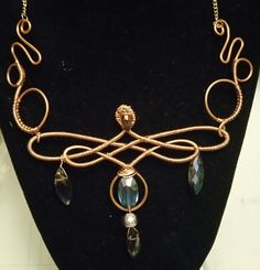 Copper wire jig necklace