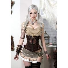 Steampunk Tendencies ❤ liked on Polyvore featuring steampunk and hair