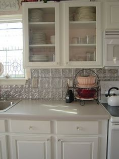 My Cottage Charm: COTTAGE KITCHEN RE-DO..HOW TO PAINT YOUR KITCHEN CABINETS-! BEFORE AND AFTER!!