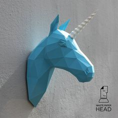 04 paper unicorn head printable digital template