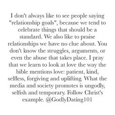 "2,042 Likes, 39 Comments - Godly Dating (@godlydating101) on Instagram: ""Godly couples are good examples to follow, but let's not idolize someone rather than follow Jesus'…"""