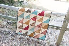 Up to your elbows in leftover fat quarter scraps? Kimberly Jolly demonstrates how to use leftover triangles to make a second quilt out of one Fat Eighth bundle.