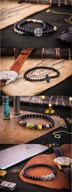Handcrafted bracelets for men #mensbracelet