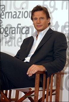 Liam Neeson in Venice, Italy in September, 2002.