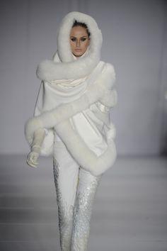 White fur shawl Yes Please !! More