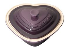 Stoneware Deep Heart Dishes & Lids - Le Creuset