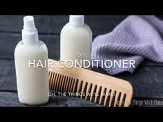 This easy, DIY hair conditioner uses natural ingredients to leave your hair soft and tangle free, and it's light enough to use as a leave-in conditioner.