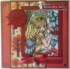 Craftychick Cards: Use something metal with The Squirrel and The Fox