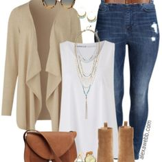Plus Size Casual Fall Outfit - Plus Size Fashion for Women - alexawebb.com…