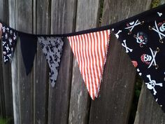 Pirate Flags Bunting Pennants Pirates Party theme Banner. $22.00, via Etsy.