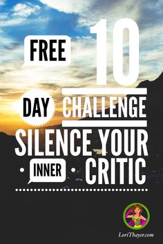 """Aren't you tired of that inner critic? You know the one, the one that tells you """"I'm not good enough"""", """"I didn't do it right"""" """"I should have...""""  It's time to silence your inner critic. Join my free 10 day challenge to learn how! Start reaching your dreams instead of stopping in your tracks. http://momstools.thinkific.com/courses/stopping-self-criticism?utm_campaign=coschedule&utm_source=pinterest&utm_medium=Lori%20Thayer&utm_content=Stopping%20Self%20Criticism"""