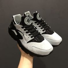 1385525c73a10 Cheap Nike Air Huarache Run PRM AAA Mens Black Gray shoes Only Price  56 To  Worldwide