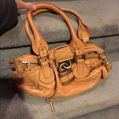 Chloe gold leather Paddington handbag Chloe Tan Leather Medium Paddington Satchel handbag- brand new condition- 100% authentic Chloe Bags Satchels