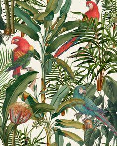 Brazil Wallpaper, Tropical Wallpaper, Print Wallpaper, Cool Wallpaper, Wallpaper Designs, Boutique Deco, Mind The Gap, Ancient Symbols, Traditional Wallpaper