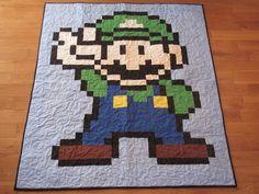 Mario Video Game Luigi Quilt