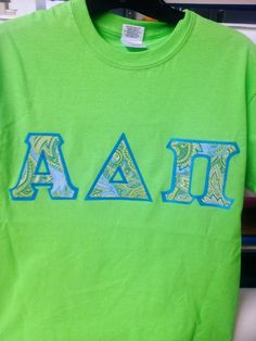 Dress your T with your LeTTers! Kiwi Gildean T #2077❤ college-graffiti.com