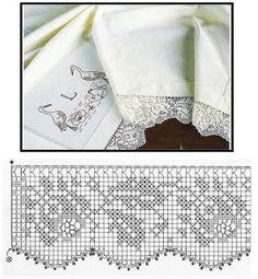 Crochet Doily Patterns, Crochet Borders, Crochet Doilies, Crochet Lace, Fillet Crochet, Cross Stitch Bookmarks, Knitting Yarn, Needlework, Diy And Crafts