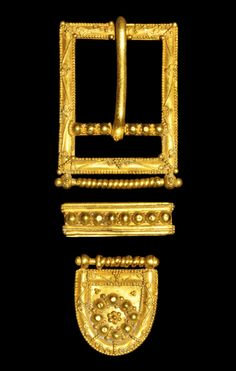 Medieval Gold Belt Buckle Suite, 14th-15th century