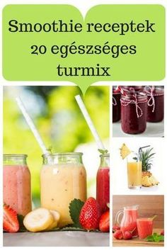 Neked melyik lesz a kedvenced? Smoothie Fruit, Green Detox Smoothie, Healthy Green Smoothies, Raspberry Smoothie, Healthy Drinks, Healthy Snacks, Healthy Recipes, Smoothie Blender, Smoothie Cleanse