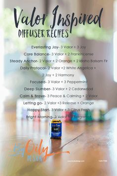 essential oil diffuser blend recipes for sleep young living essential oils for anxiety diffuser Valor Young Living, Young Living Oils, Young Living Sleep, Young Living Bergamot, Essential Oil Beginner, Young Essential Oils, Essential Oils Guide, Uses For Valor Essential Oil, Valerian Essential Oil