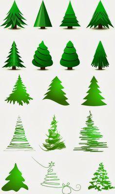 Stylized+christmas+tree+layout+vector.jpg 800×1,350 pixels