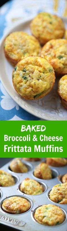 Broccoli Cheese Frittata Muffins - this recipe is so versatile, my family loves having them ready in the fridge for quick snacks or breakfasts!