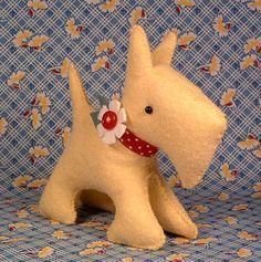 Мягкая игрушка своими руками с выкройкой – собачка из фетра