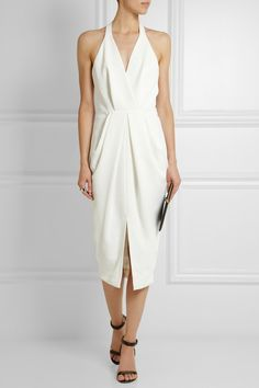 Dion Lee | Open-back textured-crepe midi dress