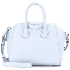 Givenchy Antigona Mini Leather Shoulder Bag ($2,035) ❤ liked on Polyvore featuring bags, handbags, shoulder bags, blue, totes, leather tote purse, leather man bags, man shoulder bag, shoulder handbags and givenchy tote