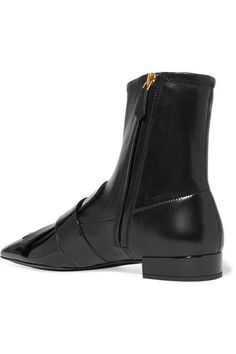 Prada - Buckled Fringed Leather Ankle Boots - SALE20 at Checkout for an extra 20% off