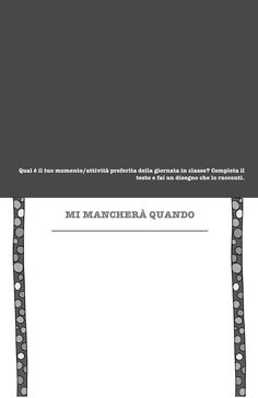 Un libro per salutare la scuola dell'infanzia – Olimpia Ruiz di Altamirano Book