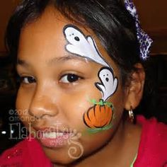 Halloween Face Painting for Kids 30 Cute Examples More Mais Easy Halloween Face Painting, Eye Face Painting, Face Painting Designs, Halloween Make Up, Face Art, Body Painting, Halloween Facepaint Kids, Face Paintings, The Face