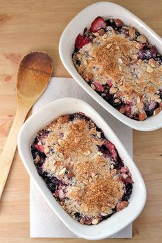 Grain-Free Rhubarb and Berry Crumble