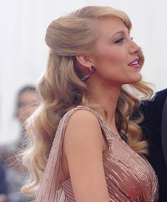 Blake Lively – Met Gala 2014 #hair #waves #glamour