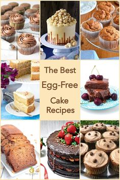 The Best Egg-Free Cake Recipes. You may be allergic to eggs, or not able to eat them for religious reasons or just not have any in the hous. Eggless Chocolate Cake, Eggless Desserts, Eggless Baking, Fun Desserts, Delicious Desserts, Eggless Recipes, Vegan Baking, Mug Cakes, Cupcake Cakes