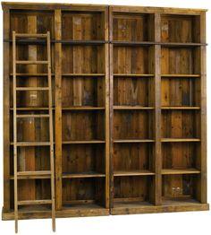 Bibliothèque en pin 240x40x240cm LUBERON - Tek Import: www.tekimport.fr