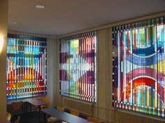 Stained glass window by Yaacov Agam, at Synagogue Loewenstrasse in Zürich
