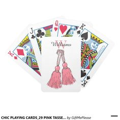 CHIC PLAYING CARDS_29 PINK TASSELS. DIY BICYCLE PLAYING CARDS