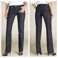 """7FAM Jeans Attention** the inseam is 30"""" not as started the chart. Thanks! Colette cut. No wear besides heel as pictured. Priced to sell 7 for all Mankind Jeans"""