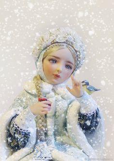 Купить Авторская кукла Снегурочка - снегурочка, коллекционная кукла, авторская работа, художественная роспись, девушка