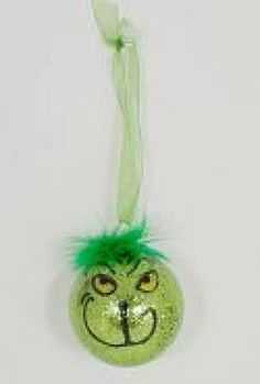 Grinch ornaments.