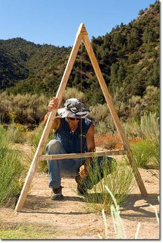 Permaculture Projects: Swales. Includes instructions for using the A-frame Level.