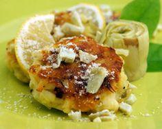 Santa Barbara Bay, Artichoke and Jalapeno Potato Cakes  http://www.santabarbarabay.com/sbb-recipes/artichoke-and-jalapeno-potato-cakes