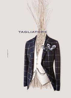 TAGLIATORE(タリアトーレ)は1960年代に創業したLERARIO(レラリオ)社が母体となり、二代目のPino Lerario(ピーノ・レラリオ)が立ち上げたブランドです。トレメッツォは、TAGLIATORE(タリアトーレ)の正規代理店です。 Elegant Man, Man Style, Blazers, Men's Fashion, Menswear, Costumes, Suits, Cars, Check