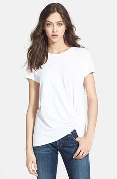 I like the knot detail: Stateside Knot Detail Slub Knit Tee available at #Nordstrom