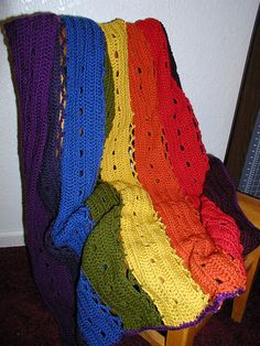 Ravelry: Wind Chime / Eyelet Strips Afghan pattern by Lion Brand Yarn