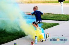 Mom-Made | Sewing and Photography Blog by Sarah Wright: Smoke bomb action shot!